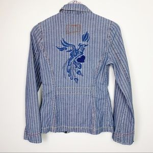 Levi's ☽ Retro Railroad Stripe Embroidered Blazer